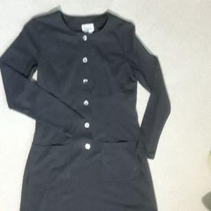 Moda International graphite gray dress in size 8